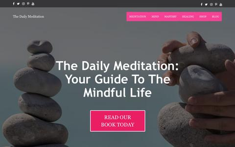 Screenshot of Home Page thedailymeditation.com - The Daily Meditation: Everything You Need For Daily Meditation Practice - captured Nov. 8, 2018
