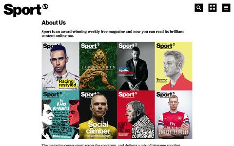 Screenshot of About Page sport-magazine.co.uk - About Us | Sport magazine - captured Sept. 19, 2014