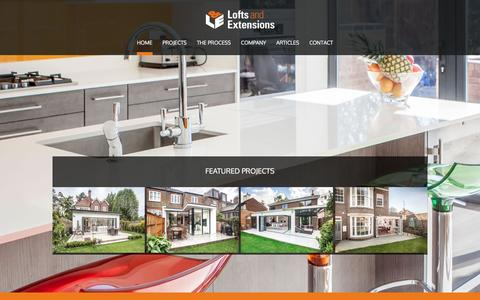 Screenshot of Home Page dontmove-extend.com - Lofts and Extensions | Loft Conversions - Kitchen Extensions – Refurbishments - London - captured Jan. 23, 2016