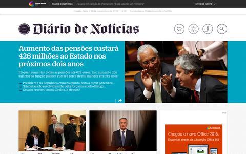 Screenshot of Home Page dn.pt - DN Đ Di‡rio de Not'cias - captured Nov. 11, 2015