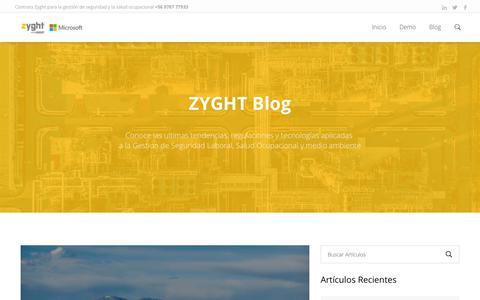 Screenshot of Blog zyght.com - Contenidos, Herramientas e Información | Blog | ZYGHT - captured Sept. 20, 2018