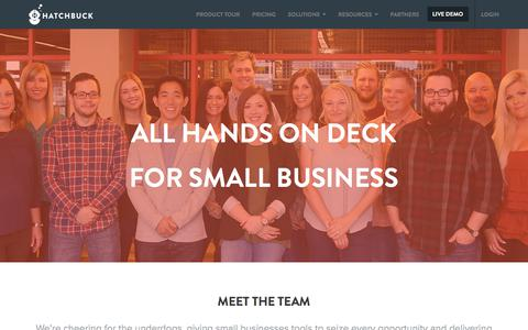 Screenshot of About Page hatchbuck.com - About Hatchbuck - captured Dec. 15, 2017
