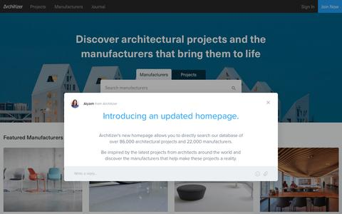 Architizer: Find Building-Products