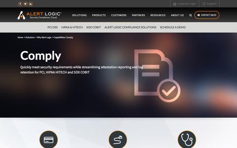 Compliance Automation – PCI & HIPAA Compliance   Alert Logic