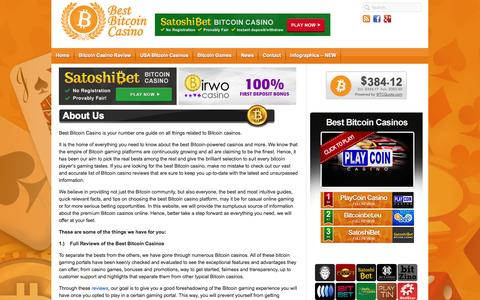 Screenshot of About Page bestbitcoincasino.com - About Best Bitcoin Casino – We've Got the Bests for You! - captured Sept. 30, 2014