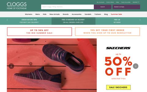 Screenshot of Home Page cloggs.co.uk - Shoe Shop with a Huge Range of Fantastic Brands for All The Family - captured June 21, 2017