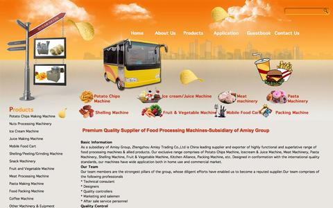 Screenshot of About Page amisyfoodmachine.com - Premium Quality Supplier of Food Processing Machines-Subsidiary of Amisy Group - captured Sept. 30, 2014