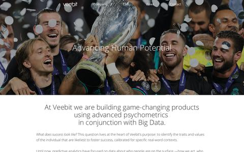 Screenshot of Team Page veebit.com - Company - Veebit - captured Sept. 21, 2018