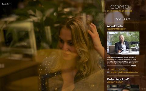 Screenshot of Team Page comorestaurant.cz - Our Team - Como Restaurant - captured Nov. 23, 2015