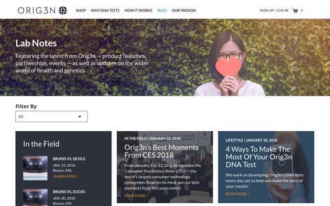 Screenshot of Blog orig3n.com - Blog – Orig3n - captured Jan. 23, 2018
