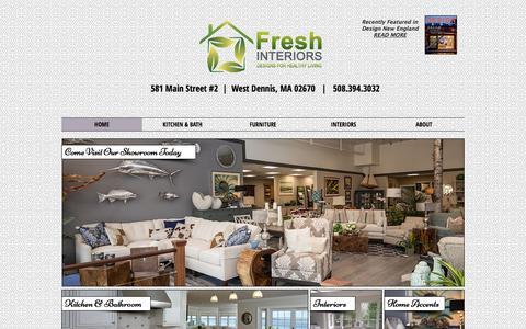 Screenshot of Home Page freshinteriorsinc.com - Cape Cod Healthy Living Interiors, Online Furniture Store - captured Feb. 10, 2016