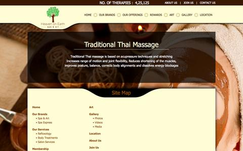 Screenshot of Site Map Page heavenonearthindia.com - Best Body & Foot Spa in Mumbai, Vadodara, Lucknow, Cochin, Trivandrum, Vizag | Best Deals on Foot Reflexology | HoE India - captured Oct. 2, 2014