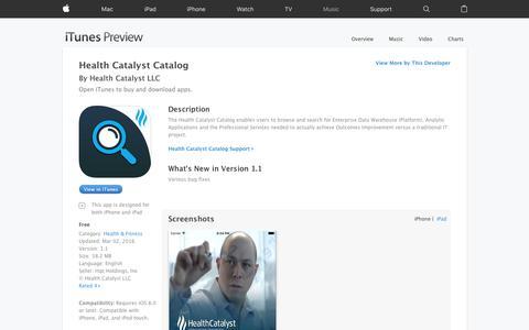 Health Catalyst Catalog on the App Store