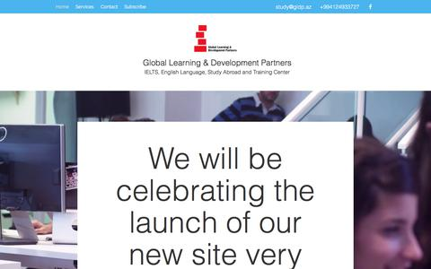Screenshot of Home Page gldp.az - Home | Global Learning & Development Partners - captured Aug. 9, 2017