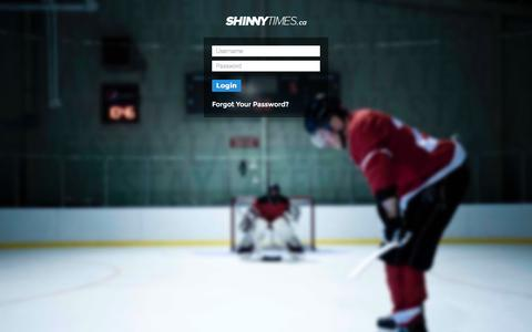 Screenshot of Login Page shinnytimes.ca - Shinny Times  | Local Hockey Shinny Times - captured Oct. 26, 2014