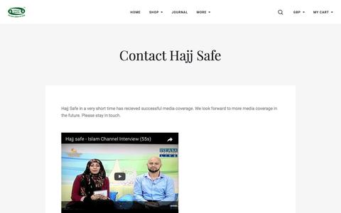 Screenshot of Press Page hajjsafe.com - Hajj Safe Media / Islam channel / sisters magazine - captured May 14, 2017