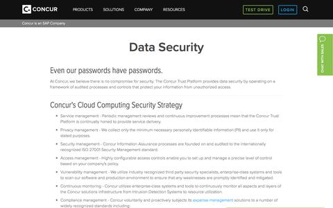 Corporate Data Security and Privacy - Concur