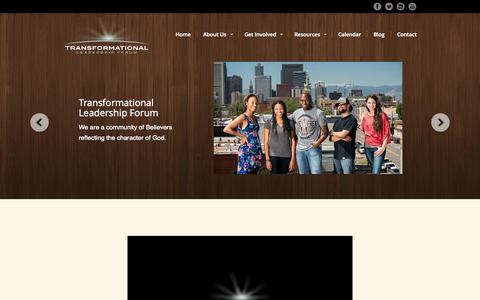 Screenshot of Home Page tlf8.com - Transformational Leadership Forum - captured Oct. 7, 2014