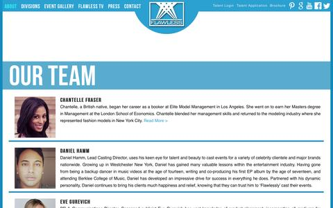 Screenshot of Team Page flawlessnyc.com - Our Team | Flawless - captured Sept. 30, 2014