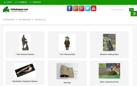 Screenshot of Home Page irishshopper.com - Irish Shopper for a complete range of Irish gifts and souvenirs - captured Nov. 26, 2016
