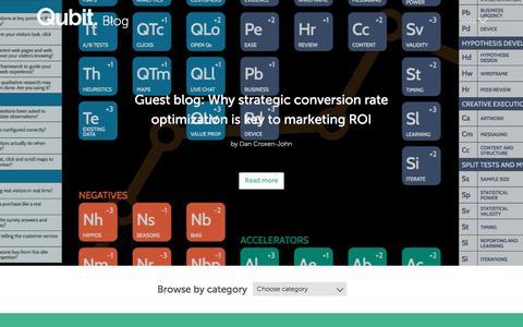 Screenshot of Blog qubit.com - Qubit blog | Guest Blog - captured April 29, 2017