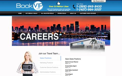 Screenshot of Jobs Page bookvip.com - Careers - captured June 23, 2017