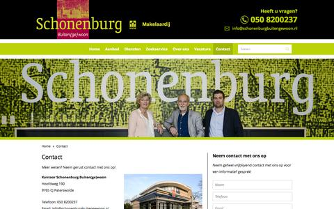 Screenshot of Contact Page schonenburgbuitengewoon.nl - Contact - Schonenburg Buiten(ge)woon - captured Dec. 5, 2015