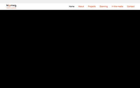 Screenshot of Home Page bloomingmedia.nl - Home | Blooming media - captured June 3, 2017