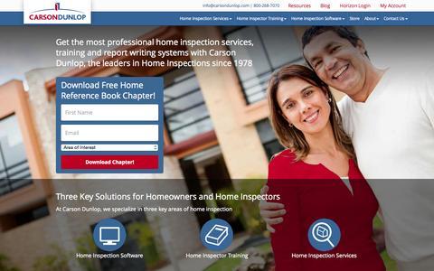 Screenshot of Home Page carsondunlop.com - Carson Dunlop Home Inspection Services, Software & Courses - captured July 19, 2015