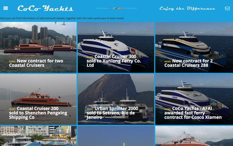Screenshot of Press Page cocoyachts.com - Facts and Figures - CocoYachts - captured July 14, 2016