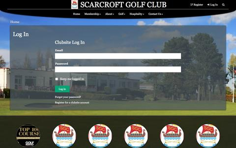 Screenshot of Login Page scarcroftgolfclub.co.uk - SCARCROFT GOLF CLUB - captured May 26, 2017
