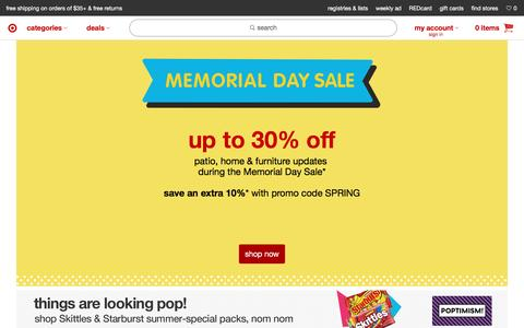 Screenshot of Home Page target.com - Target : Expect More. Pay Less. - captured May 23, 2017