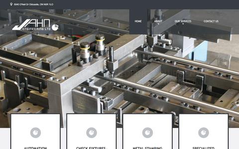 Screenshot of Home Page jahneng.com - Jahn Engineering Ltd | - captured Feb. 11, 2016