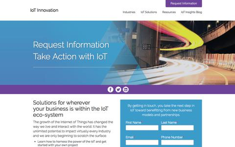 Screenshot of Contact Page internet-of-things-innovation.com - Request Information Take Action with IoT - IoT Innovation - captured July 5, 2018