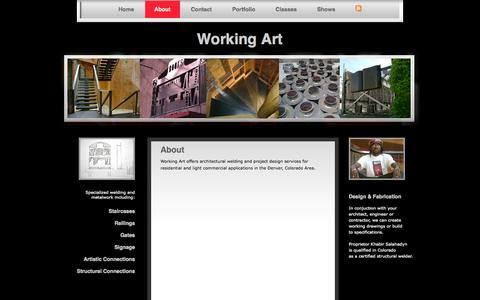 Screenshot of About Page working-art.com - About | Working Art - captured Oct. 7, 2014