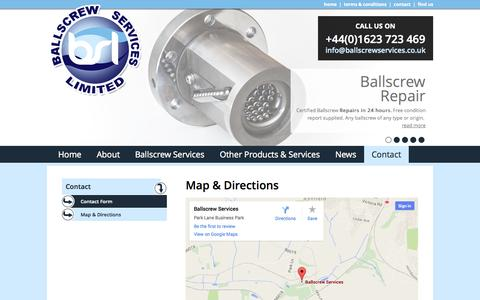 Screenshot of Maps & Directions Page ballscrewservices.co.uk - Map & Directions - captured Oct. 27, 2014