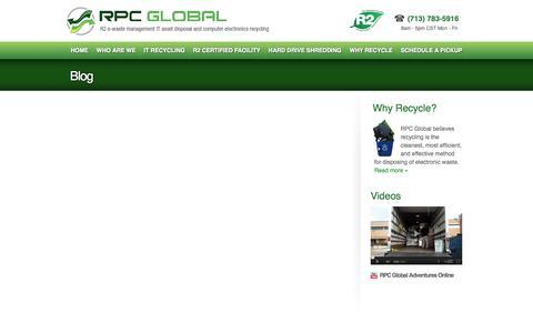 Screenshot of Blog rpcglobal.net - Blog  |  RPC Global - captured Sept. 30, 2014