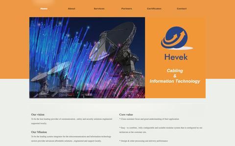 Screenshot of About Page heveknet.com - About ::HEVEK:: - captured Nov. 8, 2016
