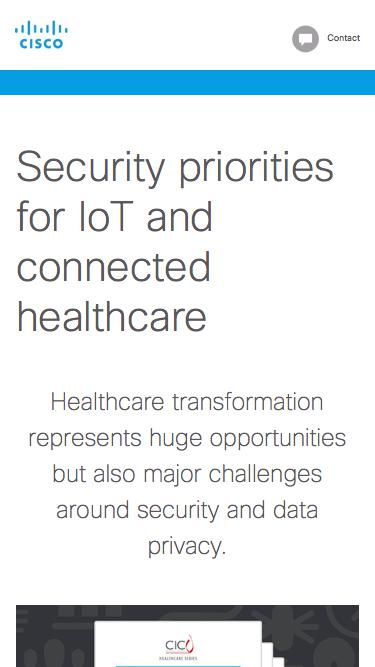 Security priorities for IoT and connected healthcare