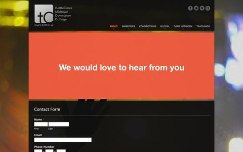 Screenshot of Contact Page thechurch.at - Contact |  theCHURCH - captured Oct. 2, 2014