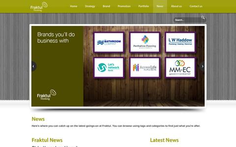 Screenshot of Press Page fraktul.com - Fraktul - News - Award winning Marketing for your organisation. Website design, Brand development, Graphic design, SEO - captured Oct. 29, 2014