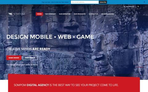 Screenshot of Home Page sompom.com - Home - Sompom Digital Agency - captured Dec. 18, 2016