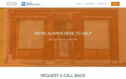 Screenshot of Contact Page atlas.ie - Contact us - Atlas Travel - captured Nov. 13, 2018