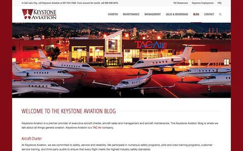 Screenshot of Blog keystoneaviation.com - Keystone Aviation Blog | Keystone Aviation - captured Jan. 9, 2016