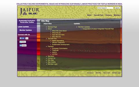 Screenshot of Site Map Page jaipurbloc.com - Jaipur Bloc   » Site Map - captured Sept. 30, 2014
