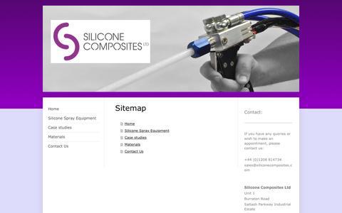 Screenshot of Site Map Page siliconecomposites.com - Silicone Composite Ltd - Home - captured Dec. 1, 2016