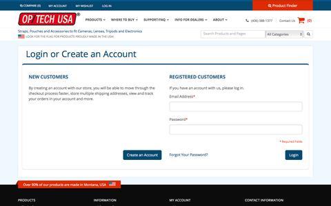 Screenshot of Login Page optechusa.com - Customer Login - captured Aug. 28, 2016