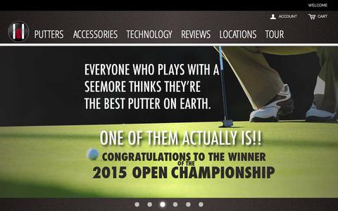 Screenshot of Home Page seemore.com - Seemore Putter Company - captured Feb. 4, 2016