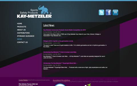 Screenshot of Press Page kay-metzeler.co.uk - Kay-Metzeler | Sports Safety Products | News - captured Sept. 30, 2014