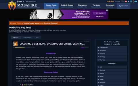 Screenshot of Blog mobafire.com - League of Legends Strategy Build Guide :: LoL Strategy Building Tool by MOBAFire - captured June 20, 2017